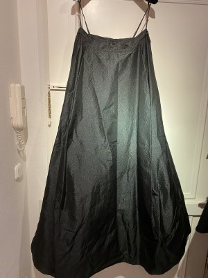 Taffeta Skirt black-silver-colored