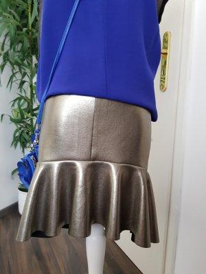 Mojito Falda de cuero de imitación color plata-gris antracita