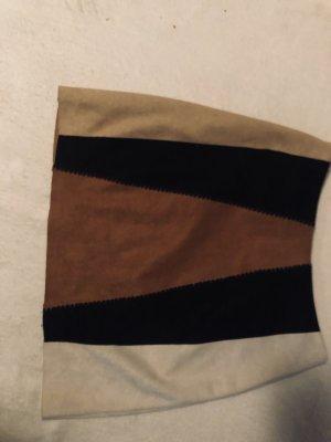 Zara Asymmetrische rok bruin-wit