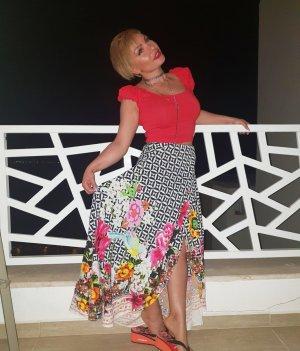 Desigual Wraparound Skirt white