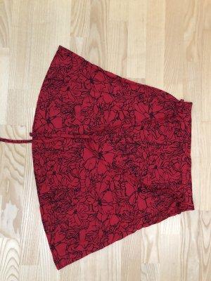 17&co Zijden rok zwart-rood