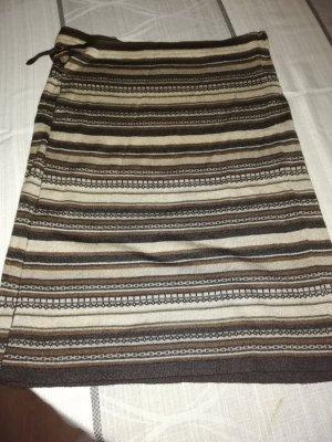 Mango Knitted Skirt brown-dark brown