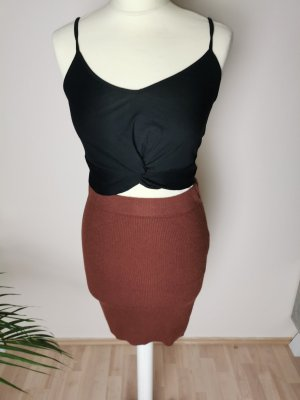 Amisu Stretch Skirt brown red