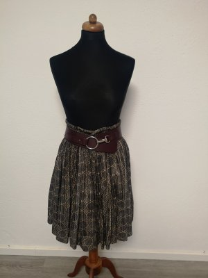 Plaid Skirt grey brown-cream