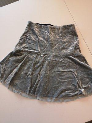 HM Jupe en soie argenté-gris clair