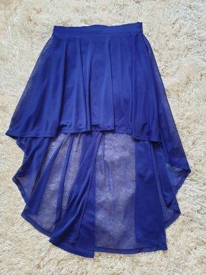 H&M Falda asimétrica azul