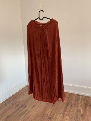 Asos Plisowana spódnica ciemny pomarańcz
