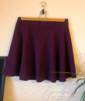H&M Spódnica z koła brązowo-fioletowy