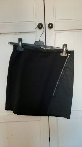 Camaieu Faux Leather Skirt black