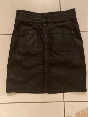 Replay Faux Leather Skirt black