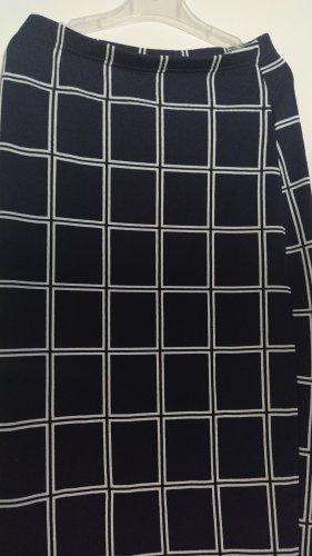 SheIn Rok met hoge taille wit-zwart