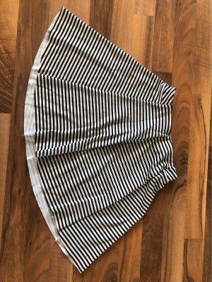 Bershka Falda midi blanco puro-azul oscuro