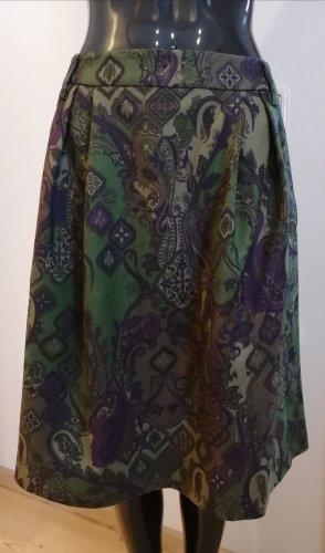 Kleidermanufaktur Habsburg Falda de lana violeta-verde