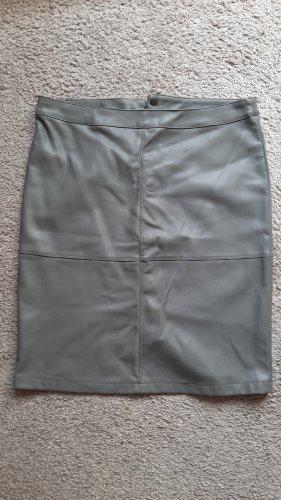 Vila Faux Leather Skirt grey