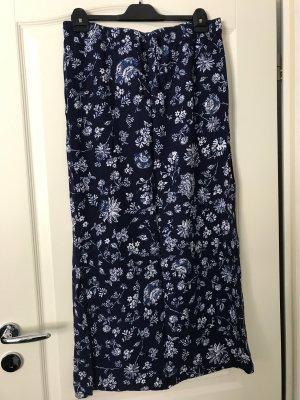 Blue Motion Maxi Skirt white-dark blue