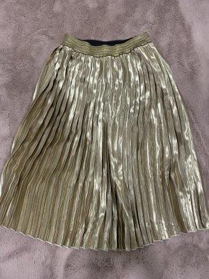 TWIST Plisowana spódnica złoto-czarny