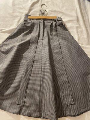 MSGM Midi Skirt white-black wool