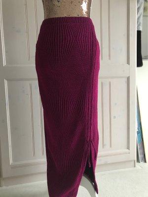 Zara Trafaluc Gonna lavorata a maglia viola Poliestere