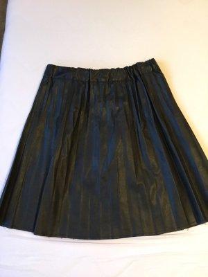 Sisley Falda de cuero negro