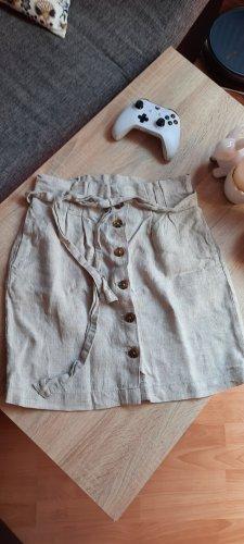 H&M L.O.G.G. Lniana spódnica jasnobeżowy