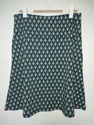 ZILCH Flared Skirt petrol cotton