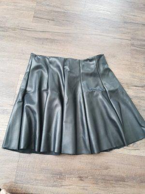 Tally Weijl Falda de cuero de imitación negro