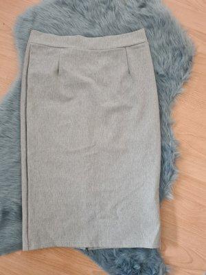 High Waist Skirt silver-colored