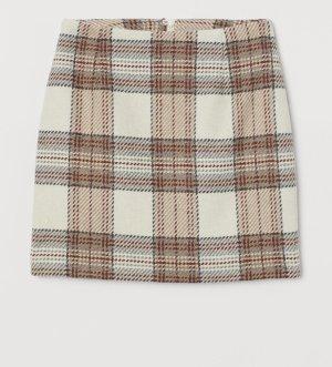 H&M Wełniana spódnica Wielokolorowy