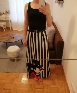 Maxi Skirt white-black