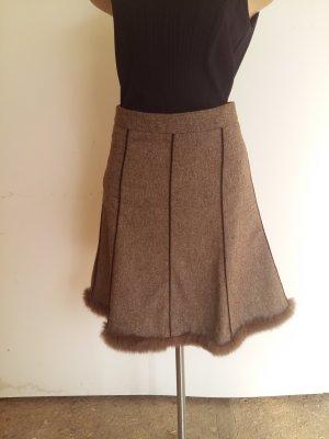 Drykorn Tweed Skirt grey brown wool