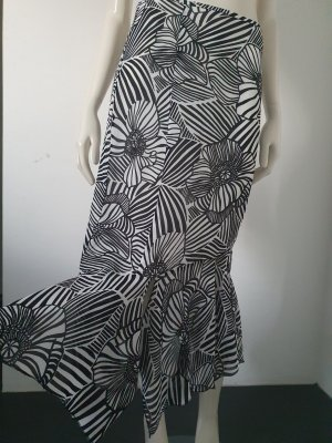 Apriori Spódnica z falbanami biały-czarny