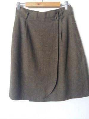 Gianni Versace Wraparound Skirt green grey wool