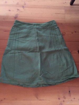 Maas Natur Lniana spódnica jasnozielony-zielony