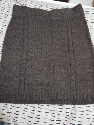 Gina Tricot Jupe tricotée taupe