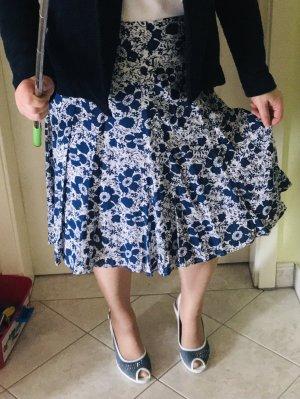Boule Flared Skirt blue-white