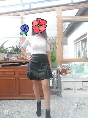 100% Fashion Leren rok zwart