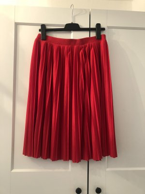 H&M Divided Pleated Skirt red