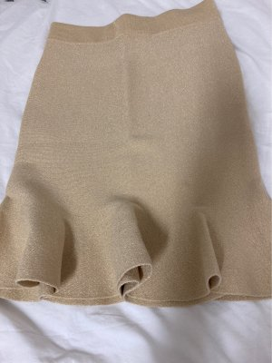 by clara Paris Flounce Skirt gold-colored
