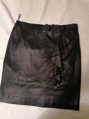 Coma Jupe en cuir synthétique noir