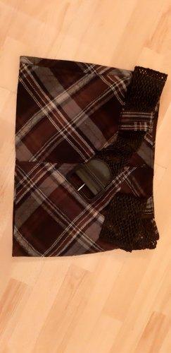 24 colours Mini-jupe brun foncé
