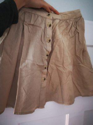 Pieces Skaterska spódnica szaro-brązowy