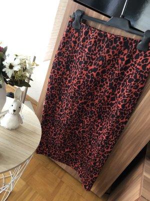 Zara Trafaluc Stretch rok zwart-rood