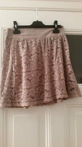Broadway Falda de encaje rosa empolvado