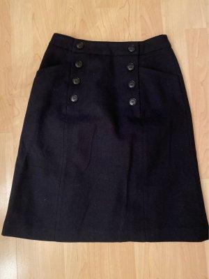 H&M Wollen rok donkerblauw