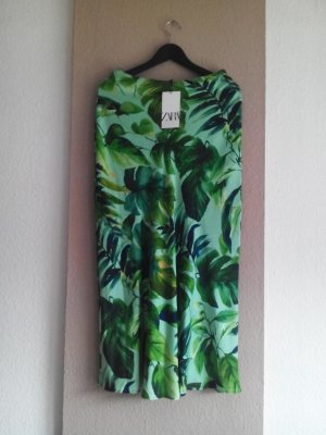 Zara Midi Skirt multicolored polyester