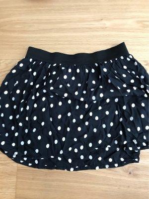 H&M Falda globo negro-blanco