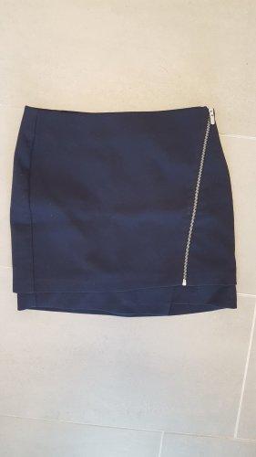 H&M Wraparound Skirt blue-dark blue