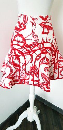 Cameo High Waist Skirt cream-red