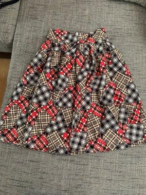 Spódnica w kształcie tulipana ciemnoczerwony-brązowy
