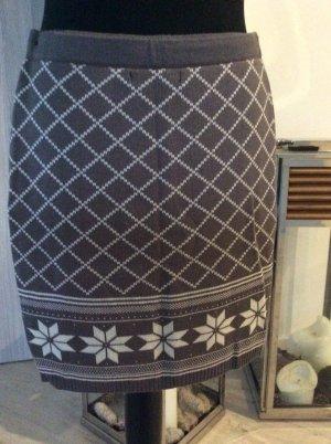 FB Sister Spódnica z dzianiny biały-szaro-brązowy